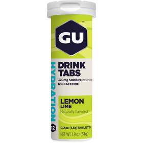 GU Energy Hydration Tabletas Bebida 12 Unidades, Lemon Lime